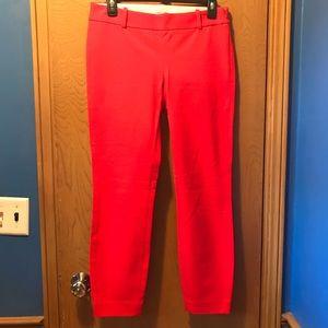 J Crew Minnie Crop Stretch red pants